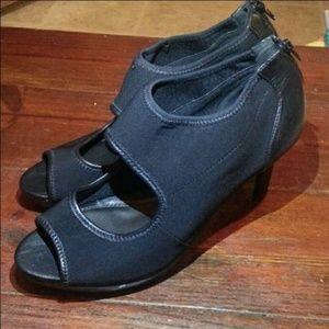 Impo Black Open Toe Heels Sz 10